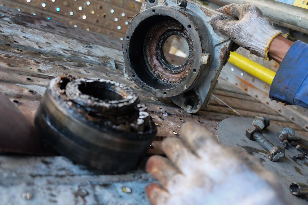 Figure 7: Defective bearing dismounted