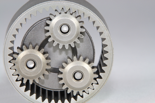 Figure 4. Gear train with planetary system