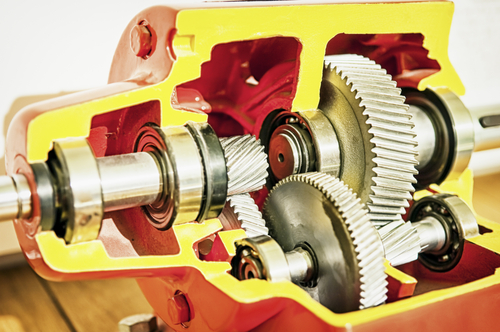 Figure 1. A cutout of a gearbox and its gear trains