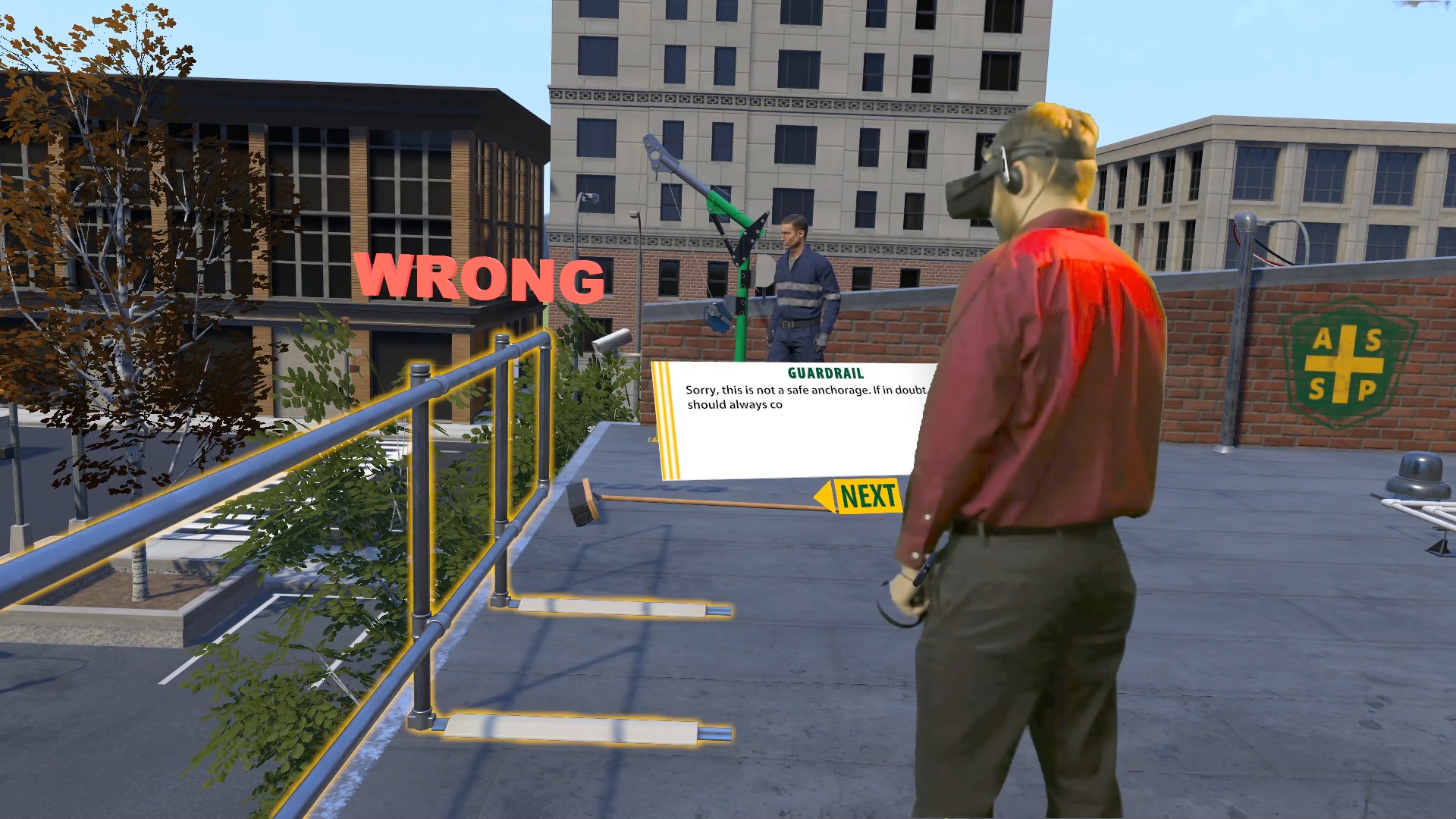 Figure 15: Training with virtual reality. Source: Arch Virtual.